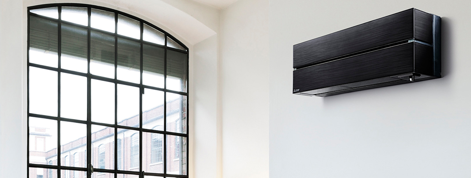 Mitsubishi Electric MSZ-LN black wall mounted split system installation example